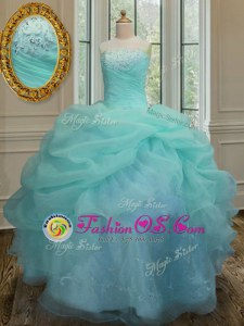 Long Sleeves Lace Up Floor Length Beading and Embroidery and Hand Made Flower Sweet 16 Dresses