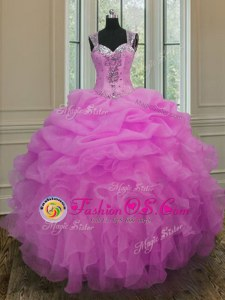 High Class Strapless Sleeveless Taffeta Sweet 16 Dress Appliques and Pick Ups Lace Up