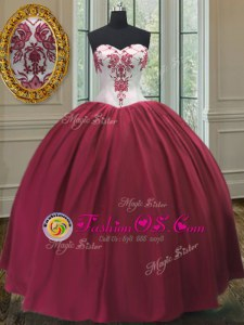 High Quality Floor Length Ball Gowns Sleeveless Burgundy Quince Ball Gowns Lace Up