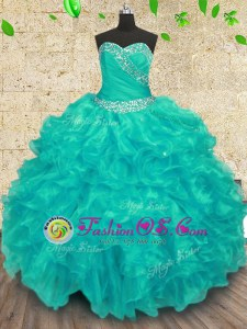 Lovely Sleeveless Beading Lace Up Quinceanera Gowns