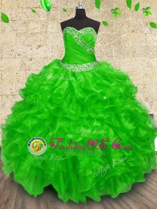 Free and Easy Floor Length Vestidos de Quinceanera Sweetheart Sleeveless Lace Up