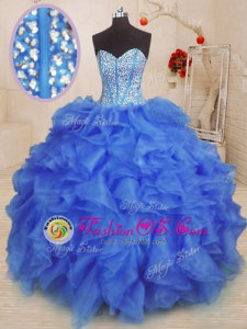 Glamorous Straps Sleeveless Zipper 15 Quinceanera Dress Organza
