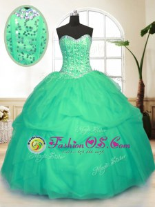 Floor Length Ball Gowns Sleeveless Olive Green 15th Birthday Dress Lace Up