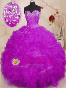 Customized Sweetheart Sleeveless Lace Up 15th Birthday Dress Yellow Green Organza