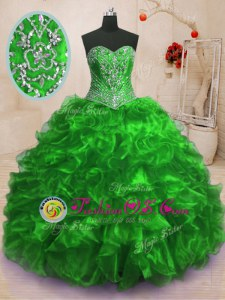 Superior Beading and Appliques Quinceanera Dresses Burgundy Lace Up Sleeveless With Brush Train