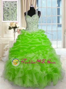 Affordable Zipper Quinceanera Gowns Beading Sleeveless Floor Length