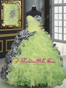 Aqua Blue Ball Gowns Tulle Sweetheart Sleeveless Beading and Appliques With Train Lace Up 15 Quinceanera Dress Brush Train