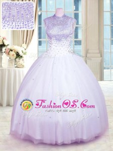 Tulle Sweetheart Sleeveless Lace Up Beading and Sequins Sweet 16 Dress in Green