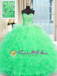 Decent Ball Gowns Ball Gown Prom Dress Light Yellow Strapless Tulle Sleeveless Floor Length Lace Up