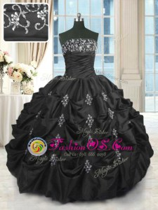 Pretty Sleeveless Beading and Lace and Appliques and Pick Ups Lace Up Quinceanera Dress