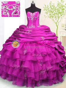Classical With Train Lace Up Quinceanera Gowns Royal Blue and In for Military Ball and Sweet 16 and Quinceanera with Beading and Appliques and Ruffled Layers and Pick Ups Brush Train