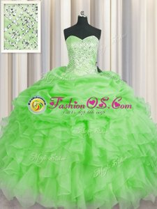 Cheap Vestidos de Quinceanera Military Ball and Sweet 16 and Quinceanera and For with Beading and Ruffles Sweetheart Sleeveless Lace Up