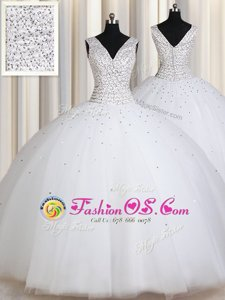Dynamic Scoop Sleeveless Appliques Lace Up Quince Ball Gowns