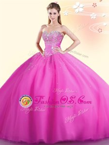 Artistic Sleeveless Lace Up Floor Length Beading 15 Quinceanera Dress