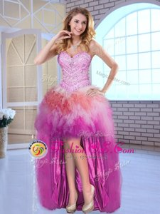 Multi-color Sleeveless Tulle Lace Up Prom Dresses for Prom