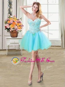 Sleeveless Lace Up Mini Length Beading Homecoming Dress Online