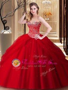 Sleeveless Court Train Ruffles Zipper Sweet 16 Dresses