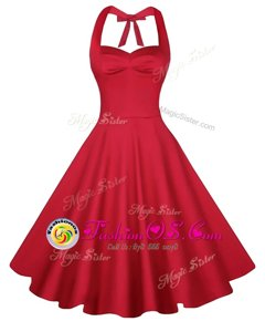 Red Prom Party Dress Prom and Party and For with Ruching Sweetheart Sleeveless Backless