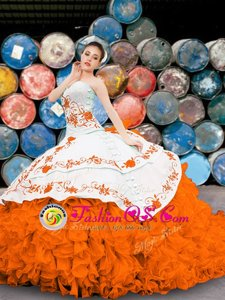 Ideal Sweetheart Sleeveless Lace Up Quinceanera Gown Multi-color Organza