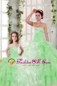 Floor Length Pink And Black Sweet 16 Quinceanera Dress Organza Sleeveless Beading and Ruffles