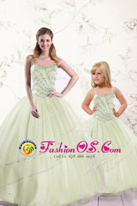Ball Gowns 15th Birthday Dress Multi-color Sweetheart Tulle Sleeveless Floor Length Lace Up