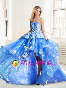Sleeveless Appliques Lace Up Sweet 16 Dress