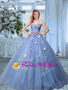 Noble With Train Baby Pink Quince Ball Gowns Sweetheart Sleeveless Brush Train Lace Up