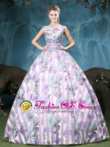 Straps Multi-color Sleeveless Tulle Lace Up Quinceanera Dresses for Military Ball and Sweet 16 and Quinceanera