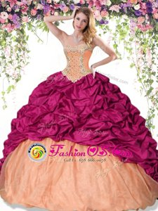 Multi-color Sweetheart Neckline Beading and Pick Ups Quinceanera Dress Sleeveless Lace Up