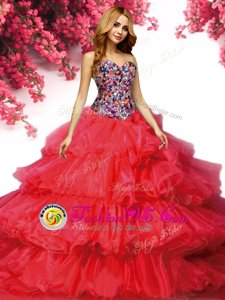 Blue And Black Sleeveless Beading and Ruffles Sweet 16 Quinceanera Dress