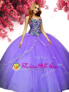 Elegant Tulle Sleeveless Floor Length Sweet 16 Dresses and Beading
