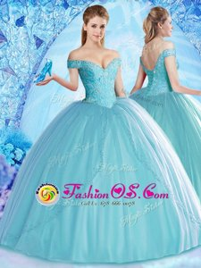 Stunning Floor Length Ball Gowns Sleeveless Royal Blue 15 Quinceanera Dress Lace Up