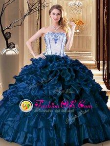 Dazzling Sleeveless Lace Up Floor Length Pick Ups Vestidos de Quinceanera