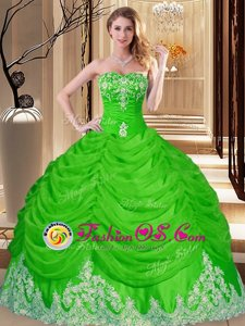 Sleeveless Tulle Floor Length Lace Up Vestidos de Quinceanera in for with Lace and Appliques
