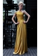 Gold Column / Sheath One Shoulder Floor-length Prom/Evening Dress