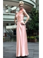 Pink Empire One Shoulder Floor-length Prom / Party Dress