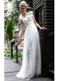White Empire One Shoulder Floor-length Printed Prom/Party Dress