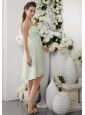 Apple Green Empire Strapless Knee-length Chiffon Bridesmaid Dress