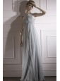 Grey Empire Asymmetrical Floor-length  Beading Prom / Evening Dress