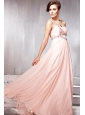 Light Pink Empire One Shoulder Floor-length Prom / Party Dress