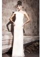 White Empire One Shoulder Floor-length Special Fabric Prom / Celebrity Dress
