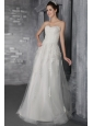 Beautiful Empire Sweetheart Sweep / Brush Train Tulle Lace Wedding Dress