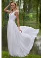 Beautiful Empire V-neck Floor-length Chiffon Appliques Prom Dress