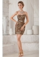 Sexy Column / Sheath Sweetheart Mini-length Leopard Prom / Homecoming Dress