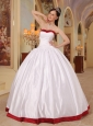Beautiful White Quinceanera Dress Sweetheart Satin Ball Gown