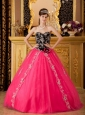 Brand new Hot Pink Quinceanera Dress Sweetheart Tulle Beading A-line / Princess