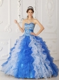 Modern Multi-color Quinceanera Dress Sweetheart Organza Beading A-Line / Princess