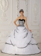 Simple White Quinceanera Dress Sweetheart Satin and Organza Ball Gown