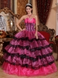 Brand New Multi-color Quinceanera Dress Sweetheart Organza Ruffles Ball Gown
