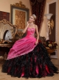 Beautiful Quinceanera Dress Sweetheart Organza Beading and Appliques Ball Gown